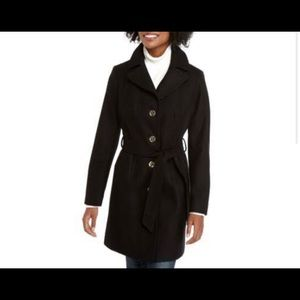 Michael Kors Button Front Wool Coat